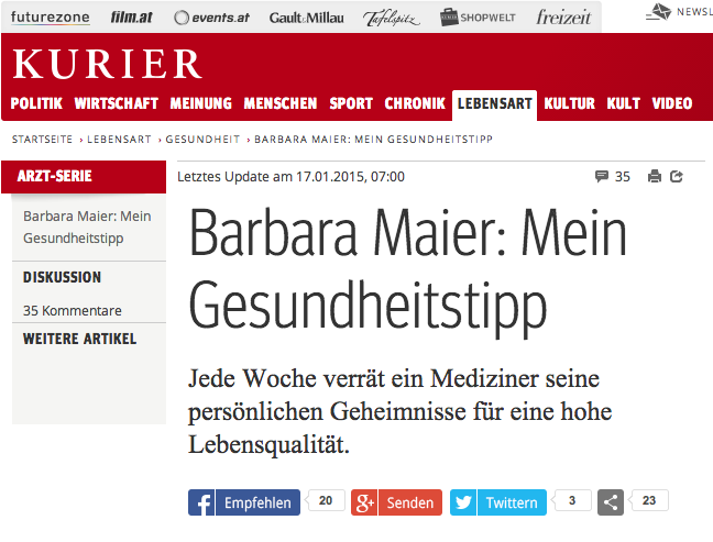 Prim. Univ.-Prof. DDr. med. Barbara Maier